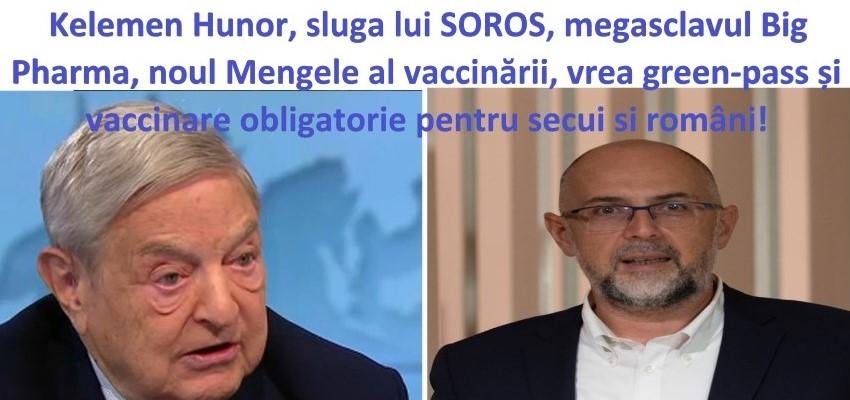 Kelemen Hunor, sluga lui Soros, megasclavul Big Pharma, se crede noul Mengele al vaccinării!